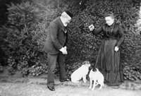 Colonel Murray and housekeeper, with two dogs, 10,507