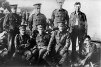 Group of Deddington Soldiers in Banbury TA  at camp pre 1914.