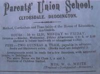 Mrs White's Parents' Union School at Clydesdale, early 20th century?