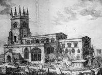 1814 Litho of Deddington Church sold as a fundraiser for the Primary School