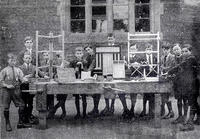 1922 boys' woodworking class