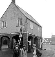 Preparing to redecorate the Town Hall c1975