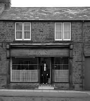Jack Lewis in the doorway of his shop