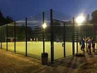 The floodlit all-weather court
